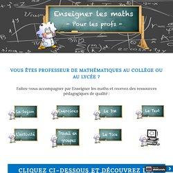 Présentation des ressources pédagogiques en mathématiques
