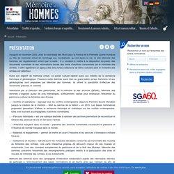 Présentation - Mémoire des hommes
