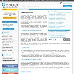 Comment préparer une présentation orale - méthodologie sur Oboulo