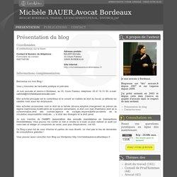Présentation du blog de Michèle BAUER,Avocat Bordeaux