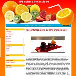 Présentation de la cuisine moléculaire