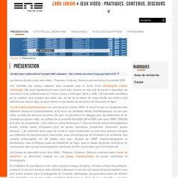 Jeux vidéo: pratiques, contenus, discours (Labo Junior ENS Lyon)