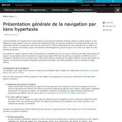 Présentation générale de la navigation par liens hypertexte