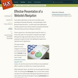Effective Presentation of a Website's Navigation - UX Booth