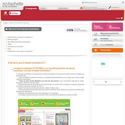 Hachette Education - Présentation des manuels numériques Hachette