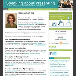 Presentation Tips from Olivia Mitchell