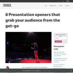 8 Presentation openers that grab your audience from the get-go