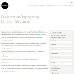 Presentation Organization: Different Structures