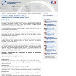 Présentation - Conseil d'orientation des retraites - 12/12/16