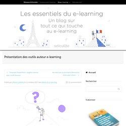 Présentation des outils auteur e-learning