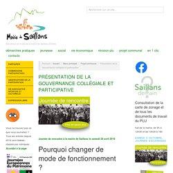 Présentation de la Gouvernance collégiale et participative – Mairie de Saillans – Drôme