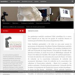 [FR]Fondation des sciences du patrimoine