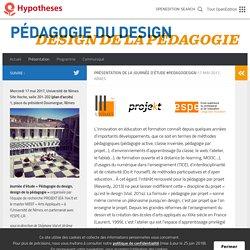 Présentation – Pédagogie du design, design de la pédagogie