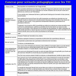 EO 771 Modèle pour la présentation d'un scénario pédagogique avec les TIC