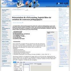 Présentation de eXeLearning, logiciel libre de création de contenus pédagogiques