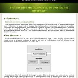Présentation du framework de persistance Hibernate.