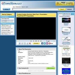 Content Creation Services - PPT