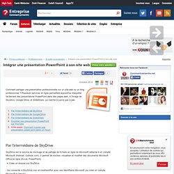 Intégrer une présentation PowerPoint à son site web