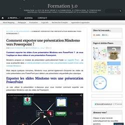Comment exporter une présentation Mindomo vers Powerpoint ?