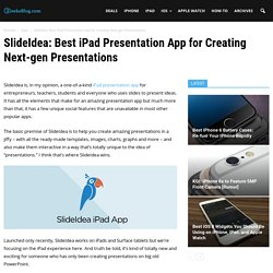 SlideIdea: Best iPad Presentation App for Creating Next-gen Presentations