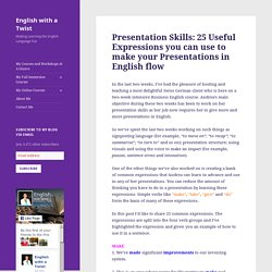 Presentation Skills: 25 Useful Expressions you can use to make your Presentations in English flow