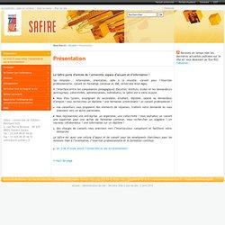 Présentation - Safire - Formation, orientation, reprise d'études, validation des acquis, création d'activité, insertion professionnelle - Université de Poitiers