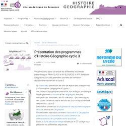 Présentation des programmes d'Histoire-Géographie-cycle 3