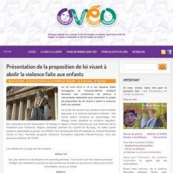 Présentation de la proposition de loi visant à abolir la violence faite aux enfants
