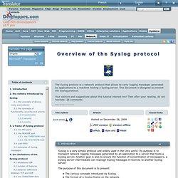 Présentation du protocole Syslog