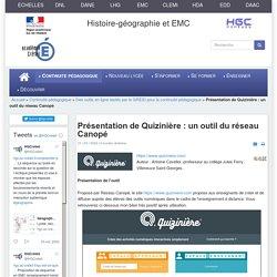 HGCréteil - Présentation de www.quiziniere.com pour réaliser des exercices/évaluations interactifs