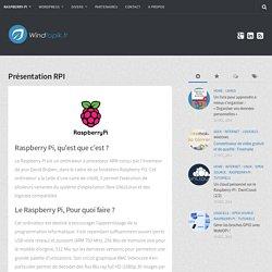 présentation raspberry-pi - RPI