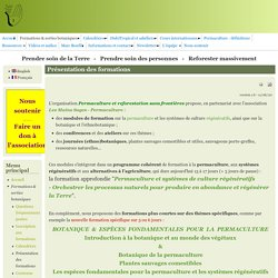 Permaculture sans frontières - Reforestation sans frontières