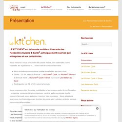 Présentation - Les Rencontres Cuisine & Santé