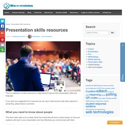 Presentation skills resources - Biz-E-training