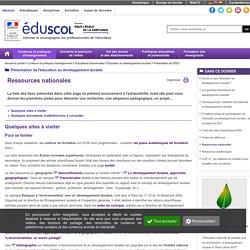 Présentation de l'EDD - Ressources nationales