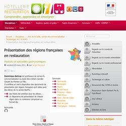 Présentation des régions françaises en restauration