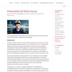 Présentation de Share my sea – Startups Pays de la Loire