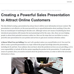 Creating a Powerful Sales Presentation to Attract Online Customers