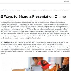 5 Ways to Share a Presentation Online