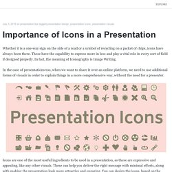 Importance of Icons in a Presentation