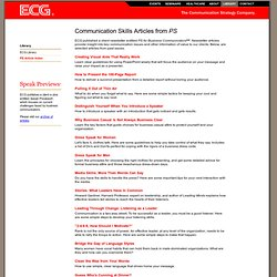 ECG - Presentation Skills Articles from PS