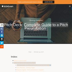 Pitch Deck: Complete Guide to a Pitch Presentation — Slidebean