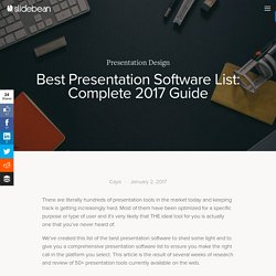 Best Presentation Software List: Complete 2017 Guide — Slidebean