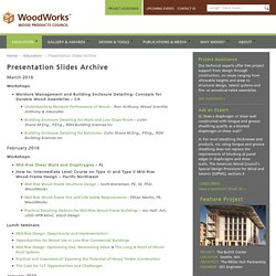 Presentation Slides Archive