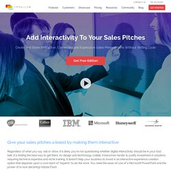 Sales Pitch Presentation Software by IntuiLab