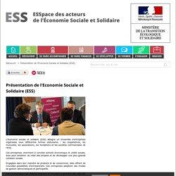 Présentation de l'Economie Sociale et Solidaire (ESS)