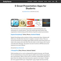 5 Great Presentation Apps for Students - Shelly Palmer