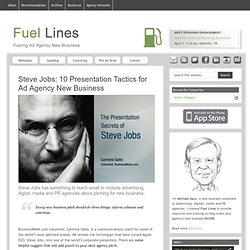 Steve Jobs: 10 Presentation Tactics for Ad Agency New Business