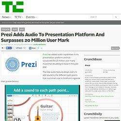 Prezi Adds Audio To Presentation Platform And Surpasses 20 Million User Mark