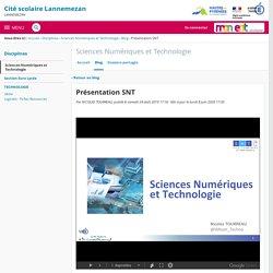 Présentation SNT - Sciences Numériques et Technologie - Cité scolaire Lannemezan